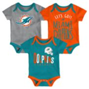 Baby Miami Dolphins Little Tailgater Bodysuit Set