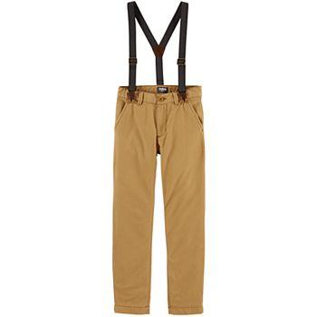 Boys 4-12 OshKosh B'gosh® Twill Suspender Pants