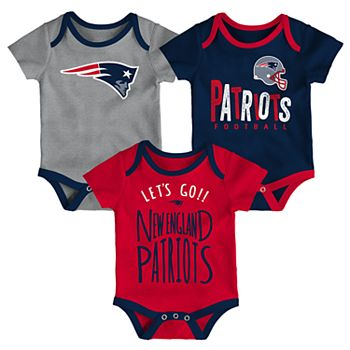 info for 3e43f 60182 Baby New England Patriots Little Tailgater Bodysuit Set