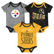 Baby Pittsburgh Steelers Little Tailgater Bodysuit Set