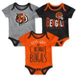Baby Cincinnati Bengals Little Tailgater Bodysuit Set