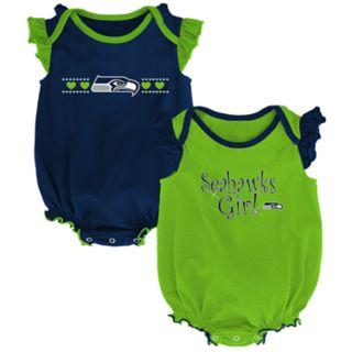 Baby Girl Seattle Seahawks Homecoming Bodysuit Set
