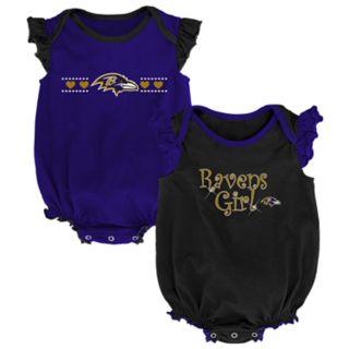 Baby Girl Baltimore Ravens Homecoming Bodysuit Set