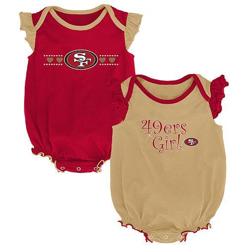 7cecadc25bc Baby Girl San Francisco 49ers Homecoming Bodysuit Set