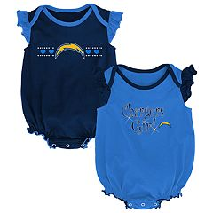 Baby Girl Los Angeles Chargers Homecoming Bodysuit Set