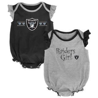 Baby Girl Oakland Raiders Homecoming Bodysuit Set