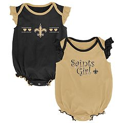 Baby Girl New Orleans Saints Homecoming Bodysuit Set
