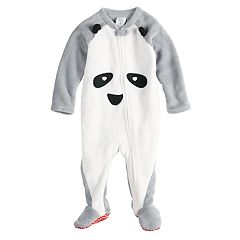 Baby/Infant Jammies For Your Families Panda Bear Microfleece Blanket Sleeper One-Piece Pajamas