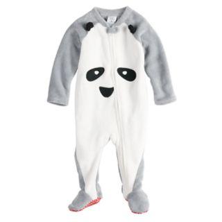 Baby/Infant Jammies For Your Families Panda Bear Microfleece Blanket Sleeper One-Piece Pajamas