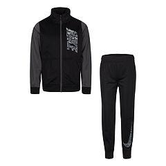 4c98611e6ed0 Boys 4-7 Nike Colorblock Zip Track Jacket   Jogger Pants Set. Black Gray  Blue Void
