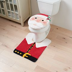 St. Nicholas Square® Holiday Cheer Santa Toilet Lid Cover & Rug