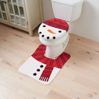 St. Nicholas Square® Holiday Cheer Snowman Toilet Lid Cover & Rug