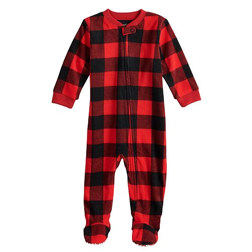 ab4ba0d4f0 Baby Infant Jammies For Your Families Thanksgiving Buffalo Checkered  Microfleece Blanket Sleeper One-Piece Pajamas