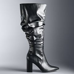 Simply Vera Vera Wang Flicker Women's High Heel Slouch Boots