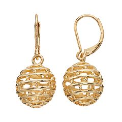 Napier Openwork Bead Drop Earrings