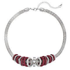 Red Hoop Collar Necklace