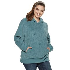 Juniors' Plus Size SO® Long Sleeve Sherpa Hoodie