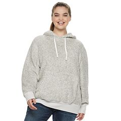 Juniors' Plus Size SO® Long Sleeve Sherpa Hoodie