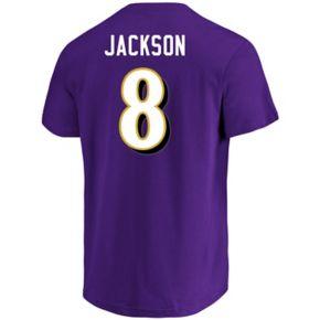 Men's Majestic Baltimore Ravens Lamar Jackson Eligible Receiver Tee