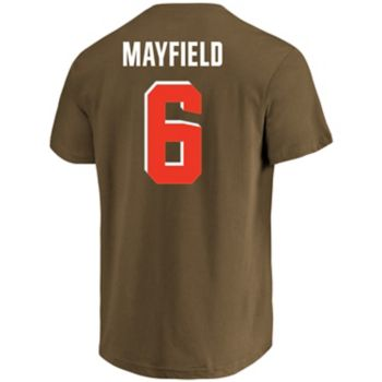 Men's Majestic Cleveland Browns Baker Mayfield Eligible Receiver Tee