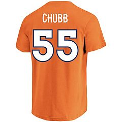 Men's Majestic Denver Broncos Bradley Chubb Eligible Receiver Tee