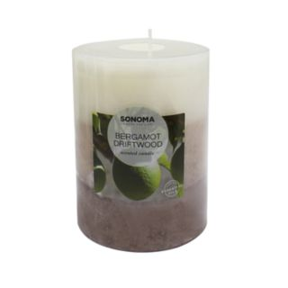 SONOMA Goods for Life? Bergamot Driftwood 12.83-oz. Pillar Candle