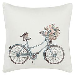 Laura Ashley Lifestyles Bicycle Throw Pillow