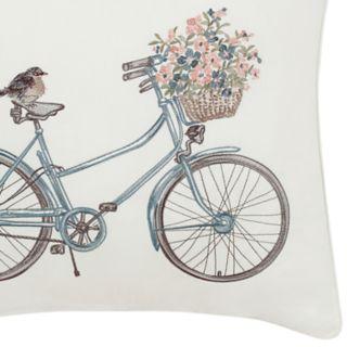 Laura Ashley Lifestyles Bicycle Throw Pillow