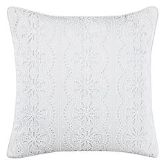 Laura Ashley Alaina Lace Throw Pillow