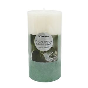 SONOMA Goods for Life® Eucalyptus & Mint Leaf 19.4-oz. Pillar Candle