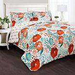 Lush Decor Poppy Garden 3-piece Quilt Set