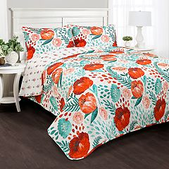 Lush Decor Poppy Garden 3-piece Quilt Set