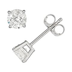 14k White Gold 5/8 Carat T.W. IGL Certified Diamond Stud Earrings