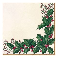 Winter Holly Lunch Paper Napkins - 36-ct.