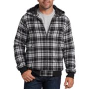 Big & Tall Dickies X-Series Modern-Fit Plaid Hooded Bomber Shirt Jacket