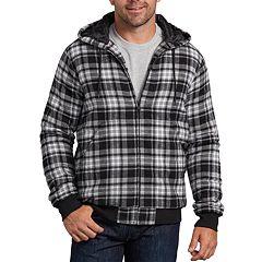Big & Tall Dickies X-Series Modern-Fit Plaid Hooded Bomber Shirt Jacket