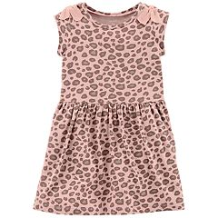 Toddler Girl Carter's Print Bow-Shoulder Dress
