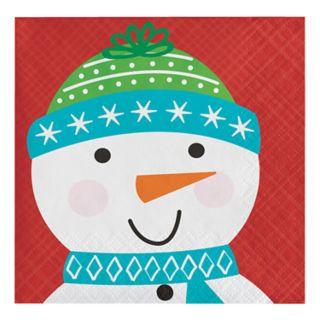 Snowman Beverage Paper Napkins - 16-ct.