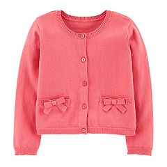 Toddler Girl Carter's Bow Cardigan Sweater