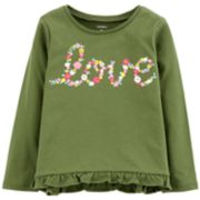 Toddler Girl Carter's Ruffled-Hem Graphic Tee
