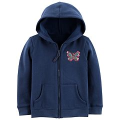 Toddler Girl Carter's Sequin Fleece Hoodie