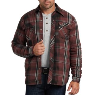 Big & Tall Dickies X-Series Modern-Fit Plaid Sherpa-Lined Snap-Front Jacket