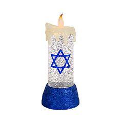 Light-Up Shimmer Hanukkah Table Decor