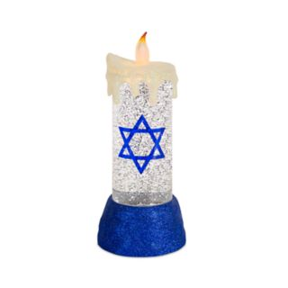 Light-Up Shimmer Hanukkah Table Decor
