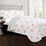 Lush Decor Kelly Flamingo 3-piece Quilt Set