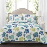 Lush Decor Coastal Reef 3-piece Quilt Set
