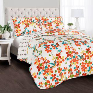 Lush Decor Weeping Flower 3-piece Quilt Set