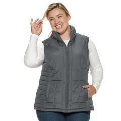 Plus Size Weathercast Quilted Puffer Vest