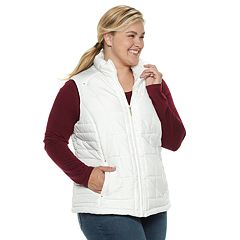 bbe67e7e930 Plus Size Weathercast Quilted Puffer Vest