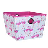 Laura Ashley Lifestyles Pretty Flamingo Medium Grommet Storage Tote